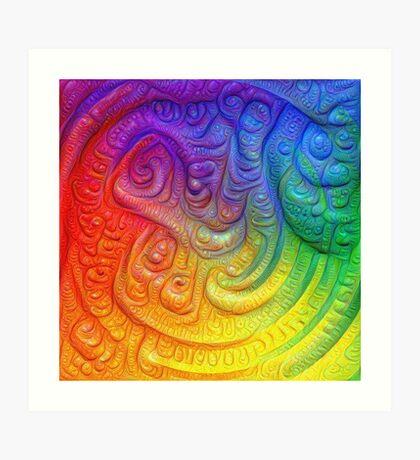 Color Foam #DeepDream Art Print