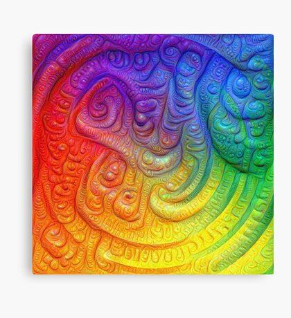 Color Foam #DeepDream Canvas Print