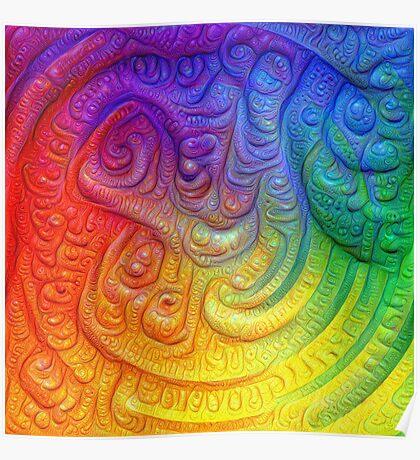 Color Foam #DeepDream Poster