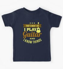 I Play Guitar Kids Tee