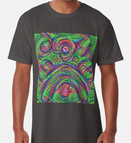 Green #DeepDream Long T-Shirt