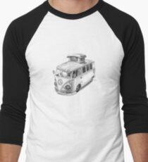 VW Type 2 Bus Split Screen Pop Top Men's Baseball ¾ T-Shirt