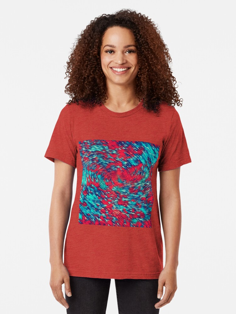 Alternate view of Color streams Tri-blend T-Shirt