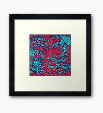 Color streams Framed Print