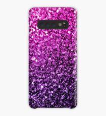 Funda/vinilo para Samsung Galaxy Hermosos destellos de brillo Ombre rosa púrpura