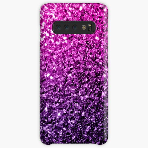 Beautiful Purple Pink Ombre glitter sparkles Samsung Galaxy Snap Case
