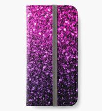 Beautiful Purple Pink Ombre glitter sparkles  iPhone Wallet/Case/Skin