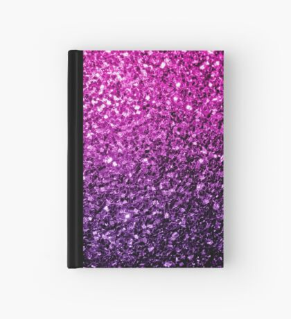 Beautiful Purple Pink Ombre glitter sparkles  Hardcover Journal