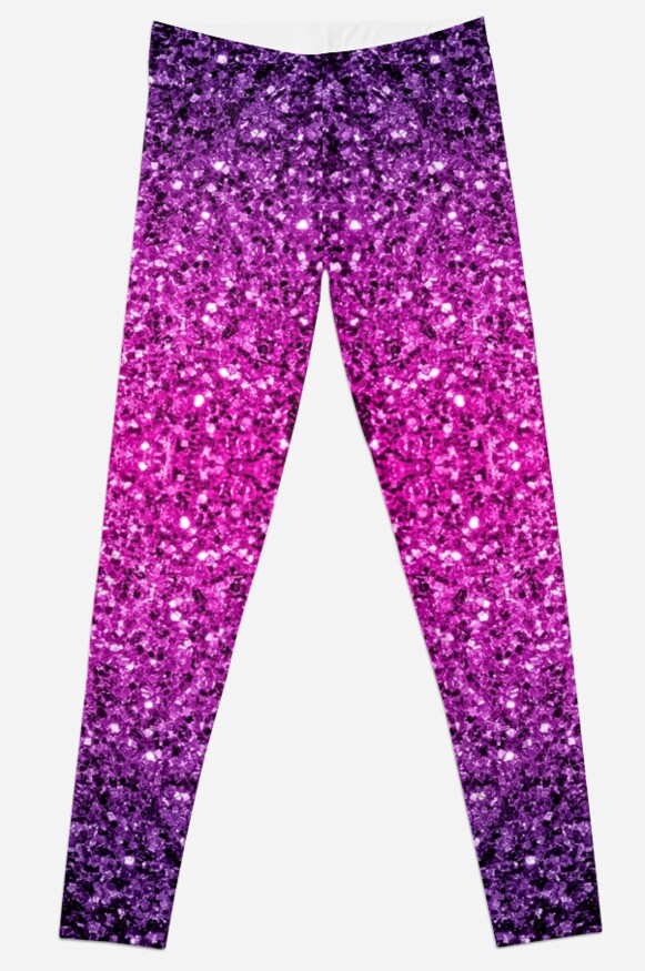 Beautiful Purple Pink Ombre glitter sparkles  by PLdesign