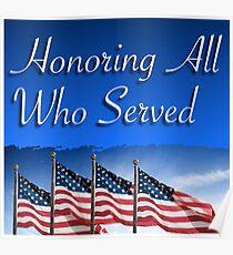 Veteran's Day Honor Poster