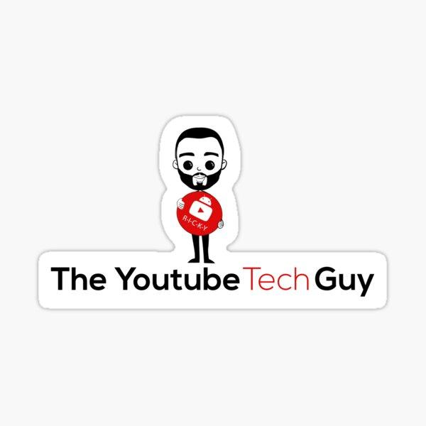 YouTube Tech Guy w/ white background Sticker
