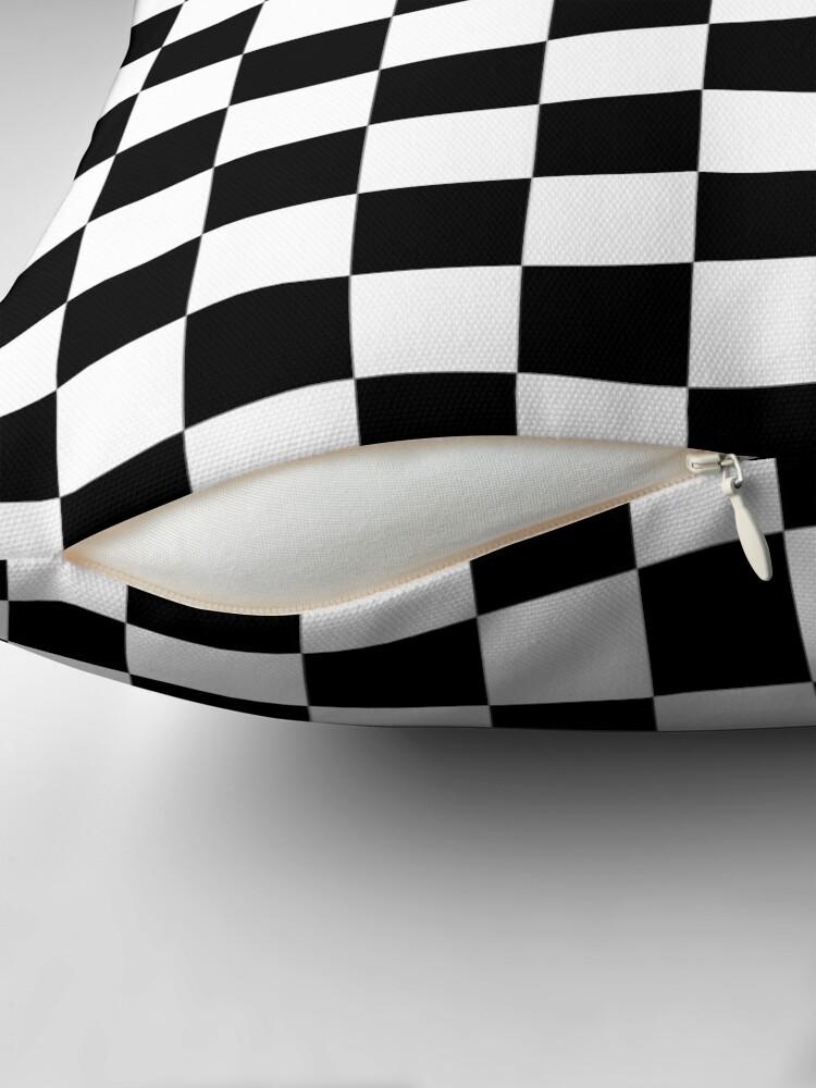 Vista alternativa de Cojín Blanco y negro Check Checkered Flag Motorsports Race Day + Ajedrez