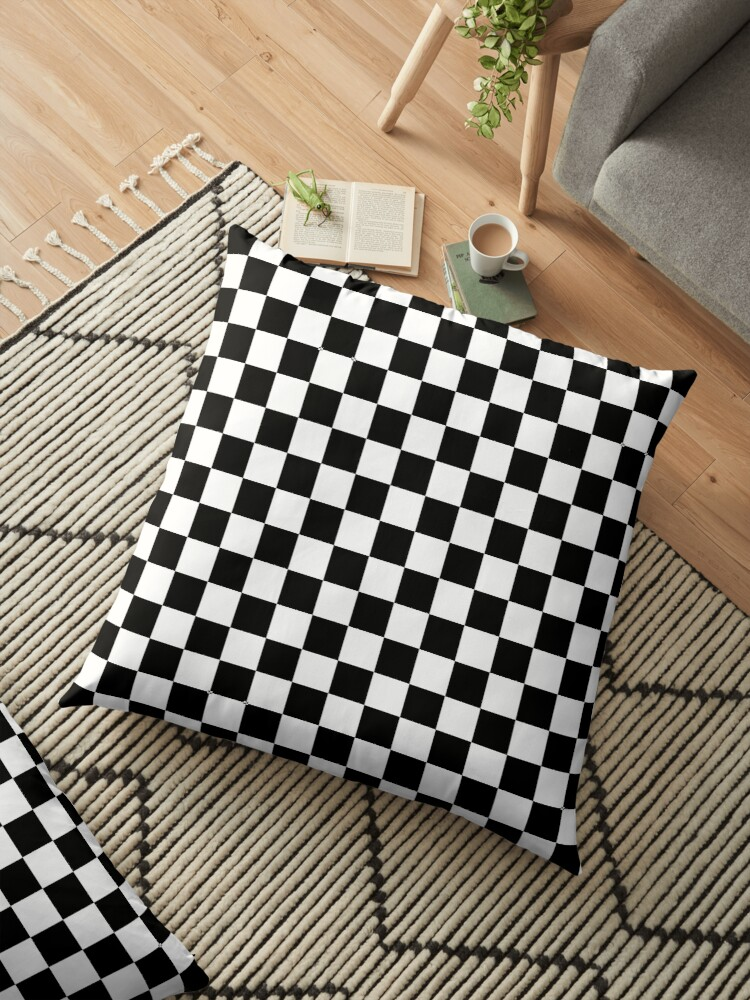 Black And White Check Checkered Flag Motorsports Race Day Chess