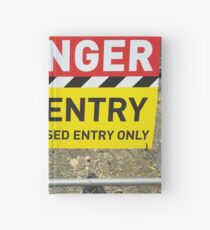 Danger No Entry Hardcover Journal