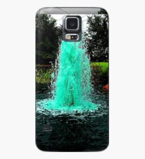 Blue/Green Fountain at a Houston Park Case/Skin for Samsung Galaxy