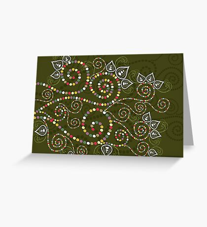 Ethnic Spiral Dreams Greeting Card