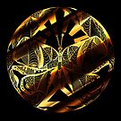 Black and Gold Butterfly Circle by kenallouis