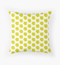 Yellow buttercups in repeat Throw Pillow