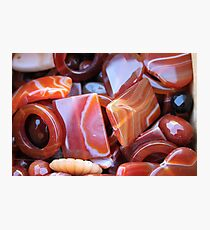 brown stones Photographic Print