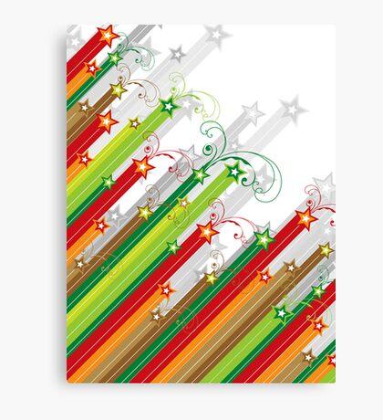 Festive Stars and Stripes Canvas Print