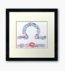 Libra Zodiac Framed Print
