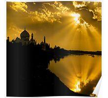 Taj Mahal God Rays - Poster by Glen Allison
