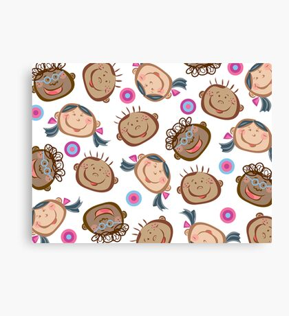 Happy Silly Faces Canvas Print