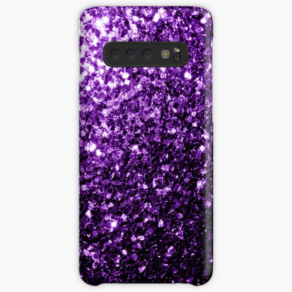 Beautiful Dark Purple glitter sparkles Case & Skin for Samsung Galaxy