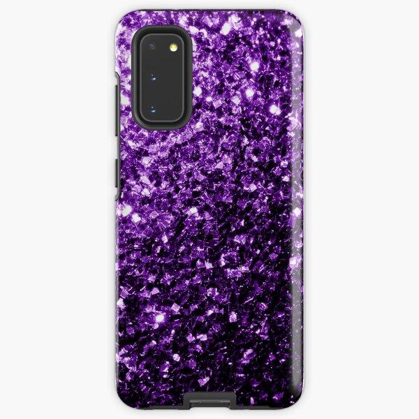 Beautiful Dark Purple glitter sparkles Samsung Galaxy Tough Case
