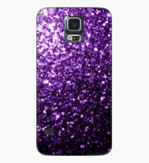 Beautiful Dark Purple glitter sparkles Case/Skin for Samsung Galaxy