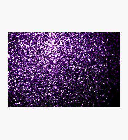 Beautiful Dark Purple glitter sparkles Photographic Print