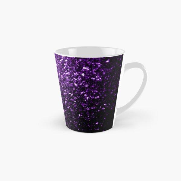 Hermoso brillo púrpura oscuro brilla Taza cónica