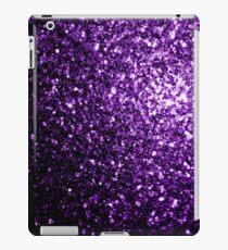 Beautiful Dark Purple glitter sparkles iPad Case/Skin