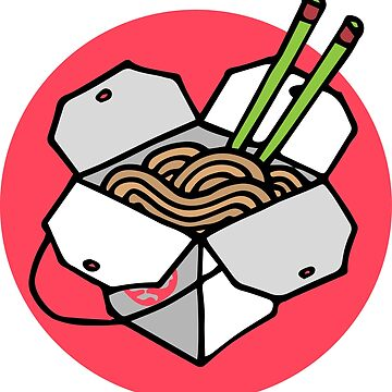 Chinese Takeout Box - Asian Noodle Takeaway by DoodleJourney