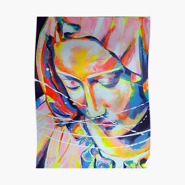 La Pieta inspirée de Michel-Ange Artpainting Poster