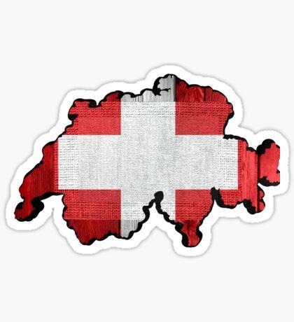 Switzerland Map Flag Sticker
