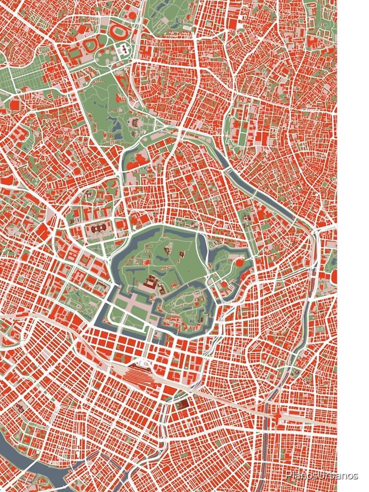 Tokyo Stadtplan Klassiker von PlanosUrbanos