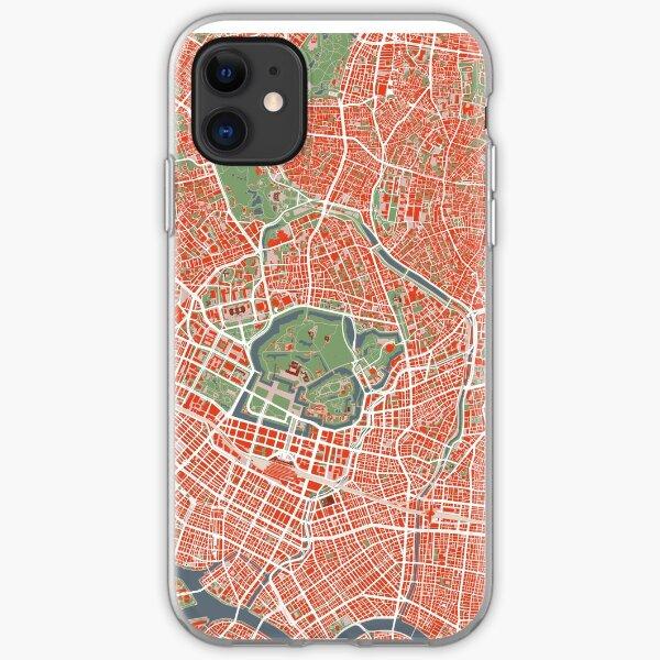 Tokyo Stadtplan Klassiker iPhone Flexible Hülle