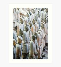 Terracotta Soldiers at attention Art Print