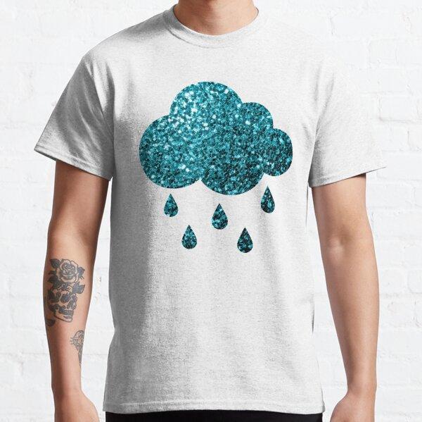 Beautiful Aqua blue glitter sparkles Classic T-Shirt