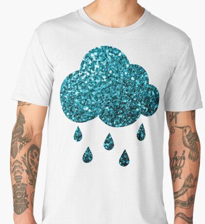 Beautiful Aqua blue glitter sparkles Men's Premium T-Shirt