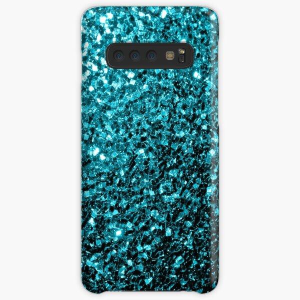 Hermosa Aqua azul brillo brilla Funda rígida para Samsung Galaxy