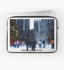PPG Place in Pittsburgh, PA - Wind Made a Snowy Tornado Laptop Sleeve