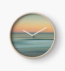 Blurred beach sunset Clock