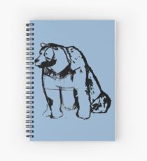 grizzly bear sketch Spiral Notebook