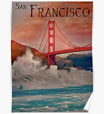 San Francisco Sunset Poster