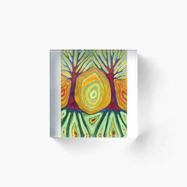 Labyrinth Acrylic Block