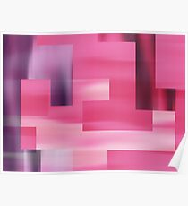 Pink Abstract Halftone Squares Design Poster