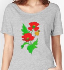 Vector Poppy  Women's Relaxed Fit T-Shirt