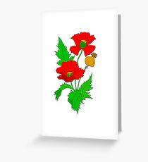 Vector Poppy  Greeting Card